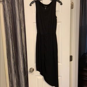 Asymmetrical sleeveless overlay split dress
